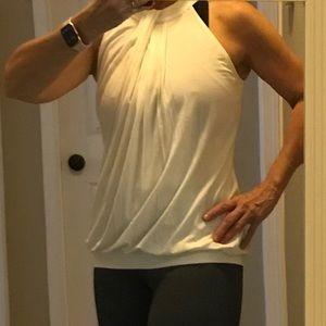 NWT Patty Boutik  Cream Sleeveless Top Size S